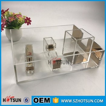 Professional Beautiful Design Clear Stationery Office Use Acrylic