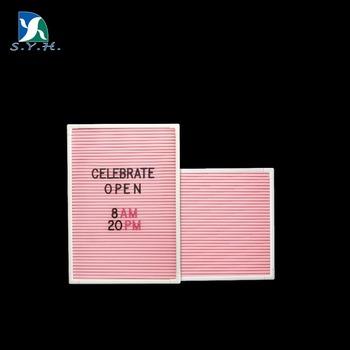 wedding favor gift pink felt letter board with white frame