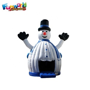 Christmas inflatable bouncer inflatable snowman bounce house manufacturers