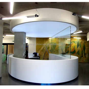 Modern High End Salon Furniture Of Round Reception Desk