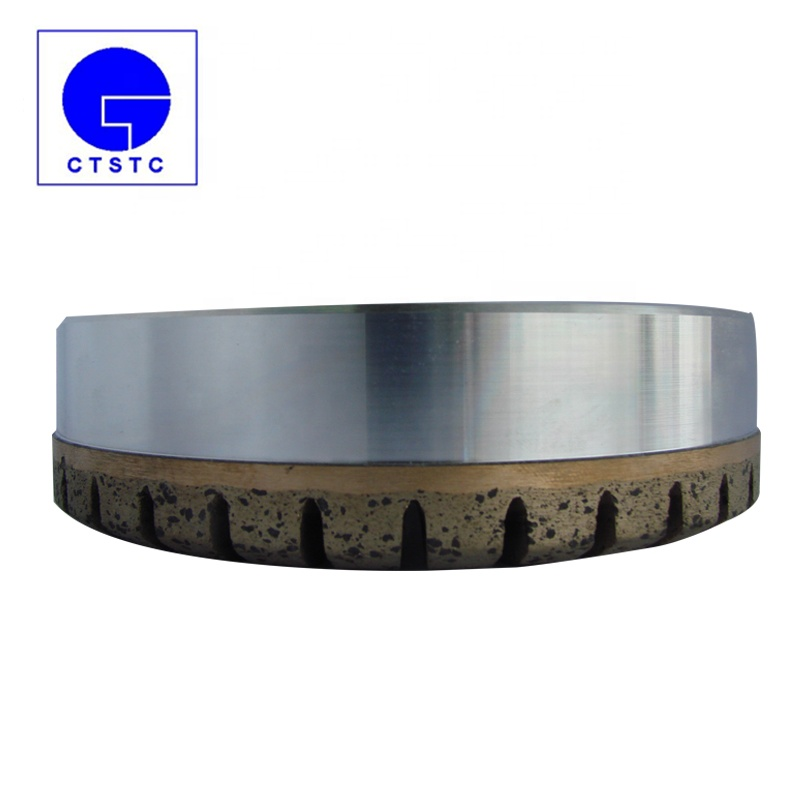Legante metallico forma di coppa double edge mole diamantate