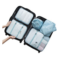 6 Pcs/Set Waterproof Underwear Luggage Storage Bag Travel Clothes Bags