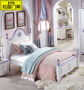 1.5 meters pine wood princess bed