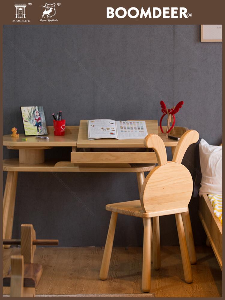 product-Living Room Wood Foldable High Chair Baby Feeding Animal Stools Baby Chair-BoomDear Wood-img-5