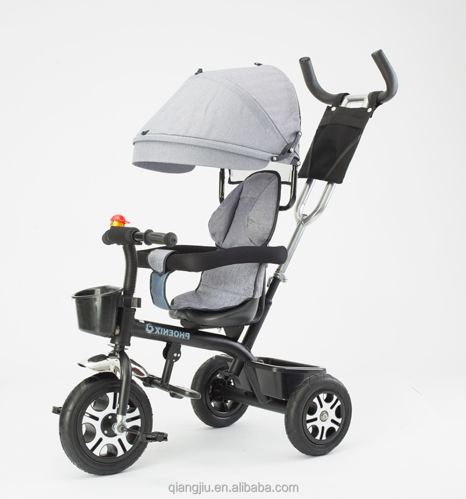 Newest 3 wheels ride on manual tricycle for kids baby stroller from Xingtai factory