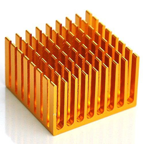 """Electronics-Salon 2PCS Aluminum Heatsink, 1.48"""" x 1.44"""" x 0.93"""", Heat-Sink."""