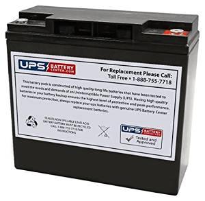 12V 18Ah IT AGM Battery replaces 12V18AH-X, CP12180-X, CP12180X, CP12170-X, 12V17AH-X, 6FM17-X, DCM0018, UB12180, TEV12180, NP18-12R, 6-DZM-17, 193043GS, B193043GS, LC-RD1217AP, WP18-12N, PS-12180B