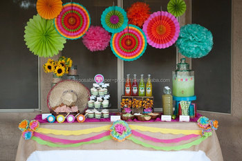 Pretty Birthday Party Decor Backdrop Ideas Tissue Paper Fan Balls
