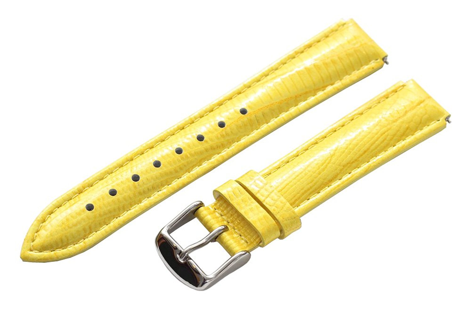 Clockwork Synergy® - 20mm x 18mm - Yellow Lizard Grain Leather Watch Band fits Philip stein Large
