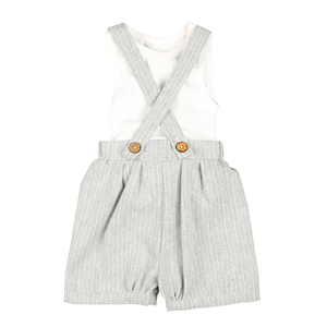 Boutique Baby Boy Outfit 2 Piece Sleeveless Vest Suspender Medium Pants Kids Clothes Sale