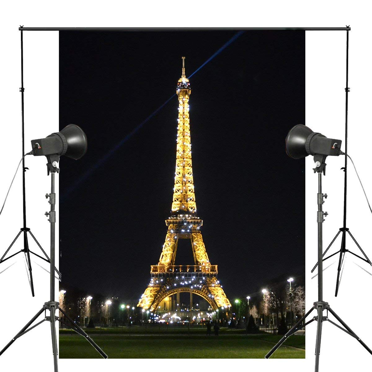 ERTIANANG 150x220cm Yellow Lamp Photography Background Paris Eiffel Tower Backdrop Photo Studio Props Wall Photography Backdrop
