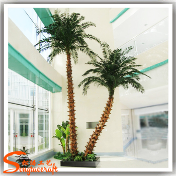 For indoor decor large plastic trees fake artificial palm tree for ...