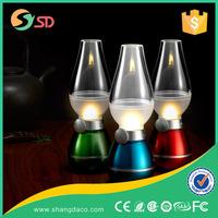 2015 new mini blowing controlled Candle type Retro LED kerosene lamp LED small night light Creative desk lamp with USB port