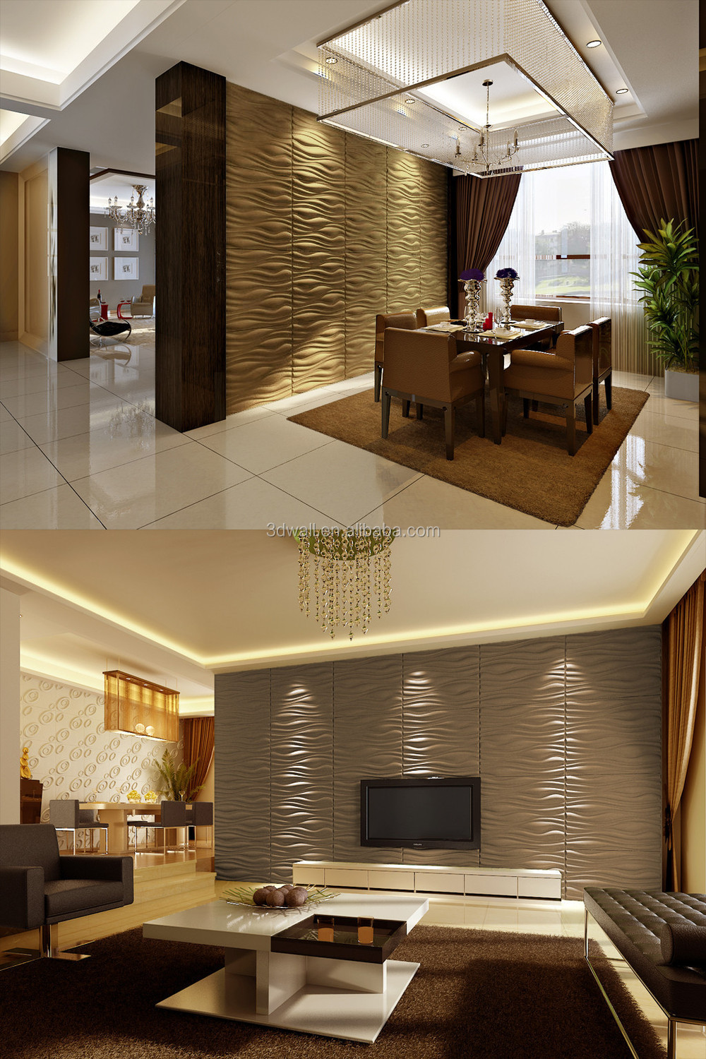 3d wall fibre decor wall coating