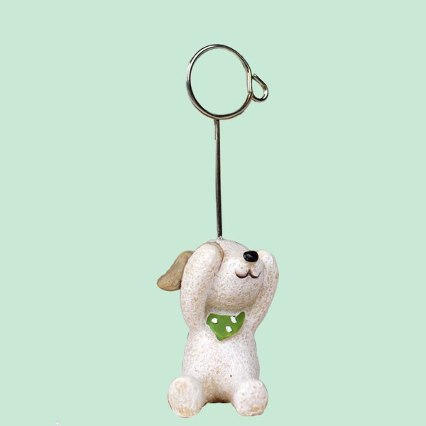 Fashion Design White Dog Funny Papper Clip
