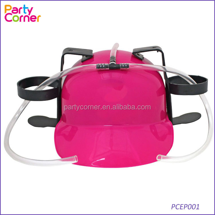 Beer & Soda Guzzler Helmet & Drinking Hat, Hot Pink - Party Hat - Novelty <strong>Gift</strong> NEW!