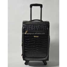 High End Men's PU Travel Luggage Bag with Wheels