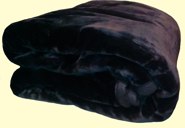 Solaron Two-Ply King Black Mink Blanket