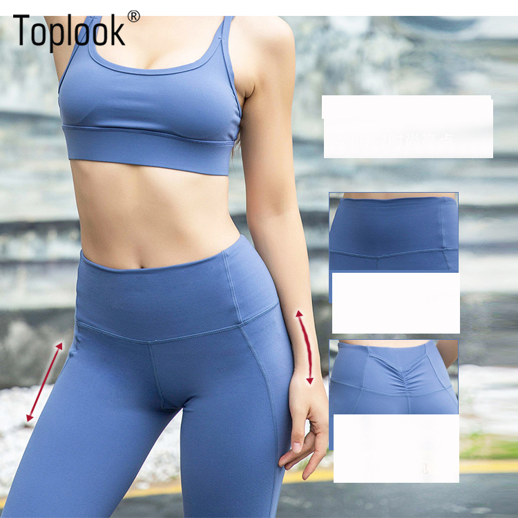 Toplook Women High Waist Good Quality Yoga Pants Butt Enhancing Leggings L135