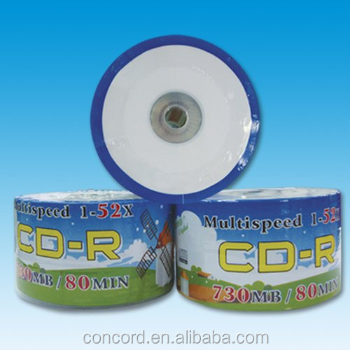 Best price printable CD R with 52X shrink wrap CD R