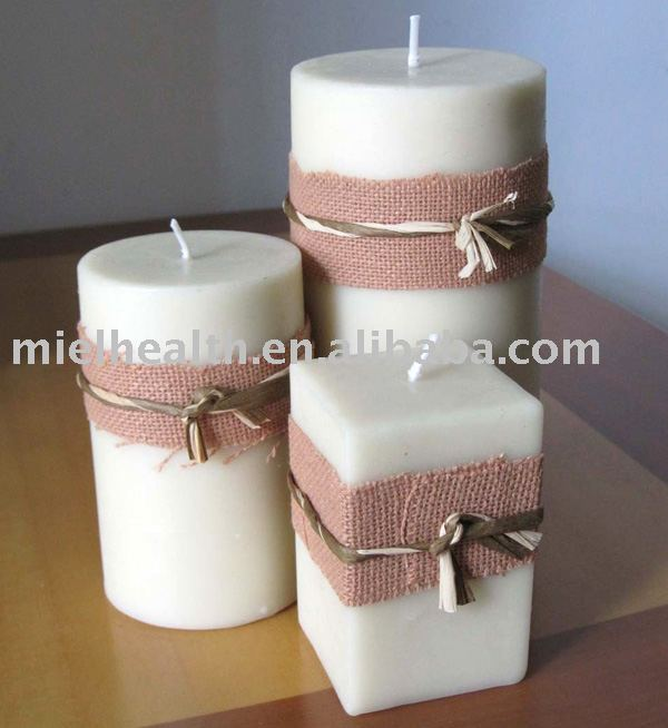 Solid Ivory White Beeswax Candles