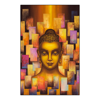 New Large Glass Painting Designs Flowers Buddha Statues Wall Art ...