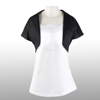 Black GOTHIC 100% Cotton Women Capelet Shirt Shawl Short Waistcoat