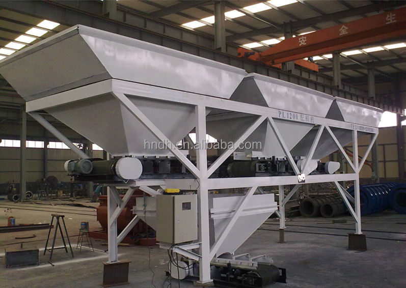 High quality used for concrete batching plant three bins PLD1200 aggregate batcher