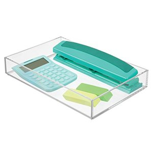 Acrylic Office Supplies Desk Organizer for Scissors, Pens, Markers, Highlighters, Tape