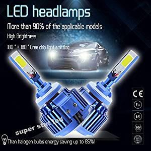 2x H1 80W 8000LM CREE Car COB LED Headlight Kit Beam Bulbs 6000K High Power