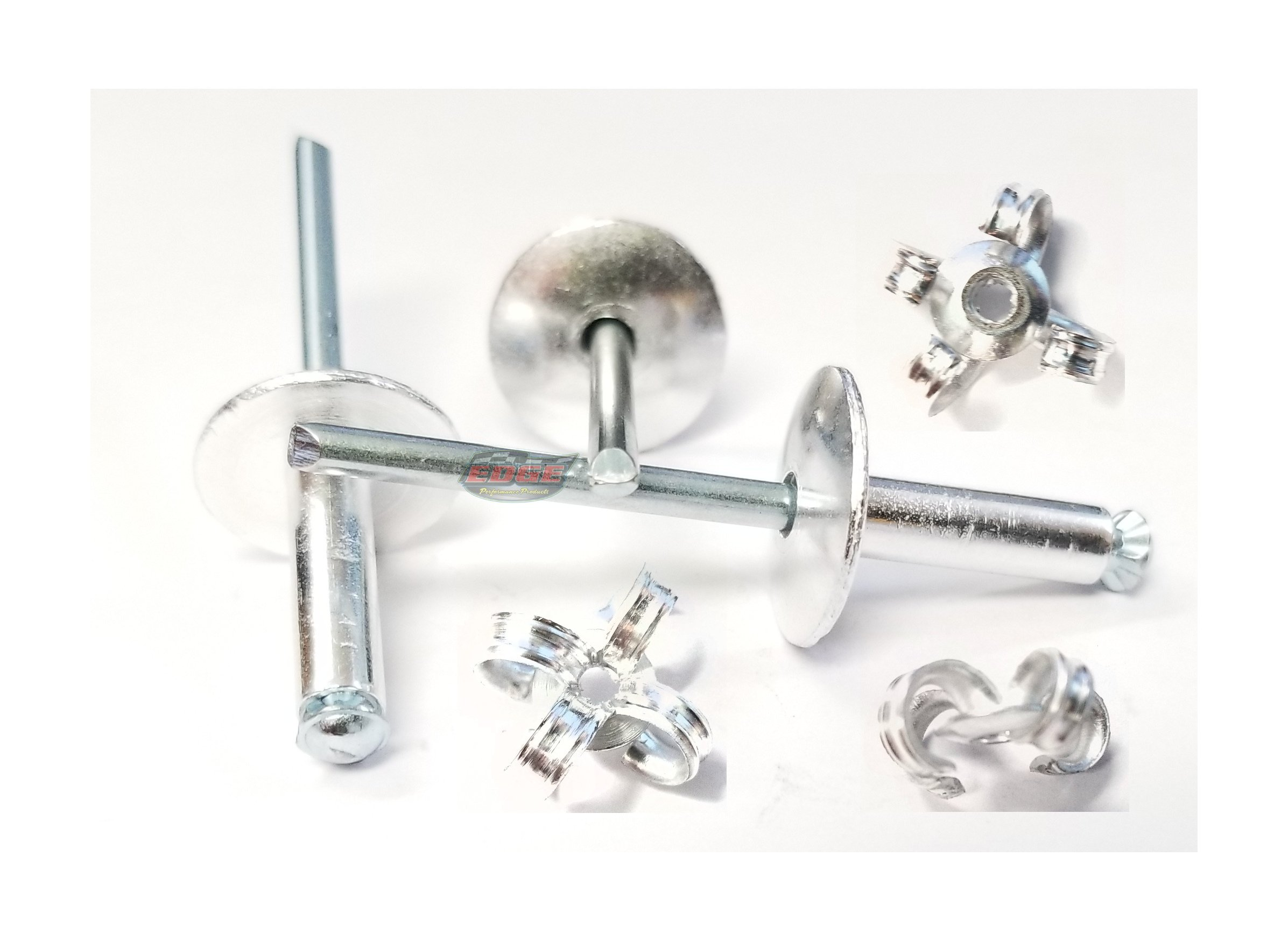 "3/16"" Large Head Peel-Back Aluminum, Steel Mandrel Pop Rivets 100ct (Mill)"