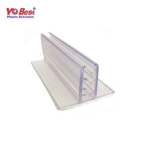 new product Clear supermarket plastic PVC price tag label holder for shelves
