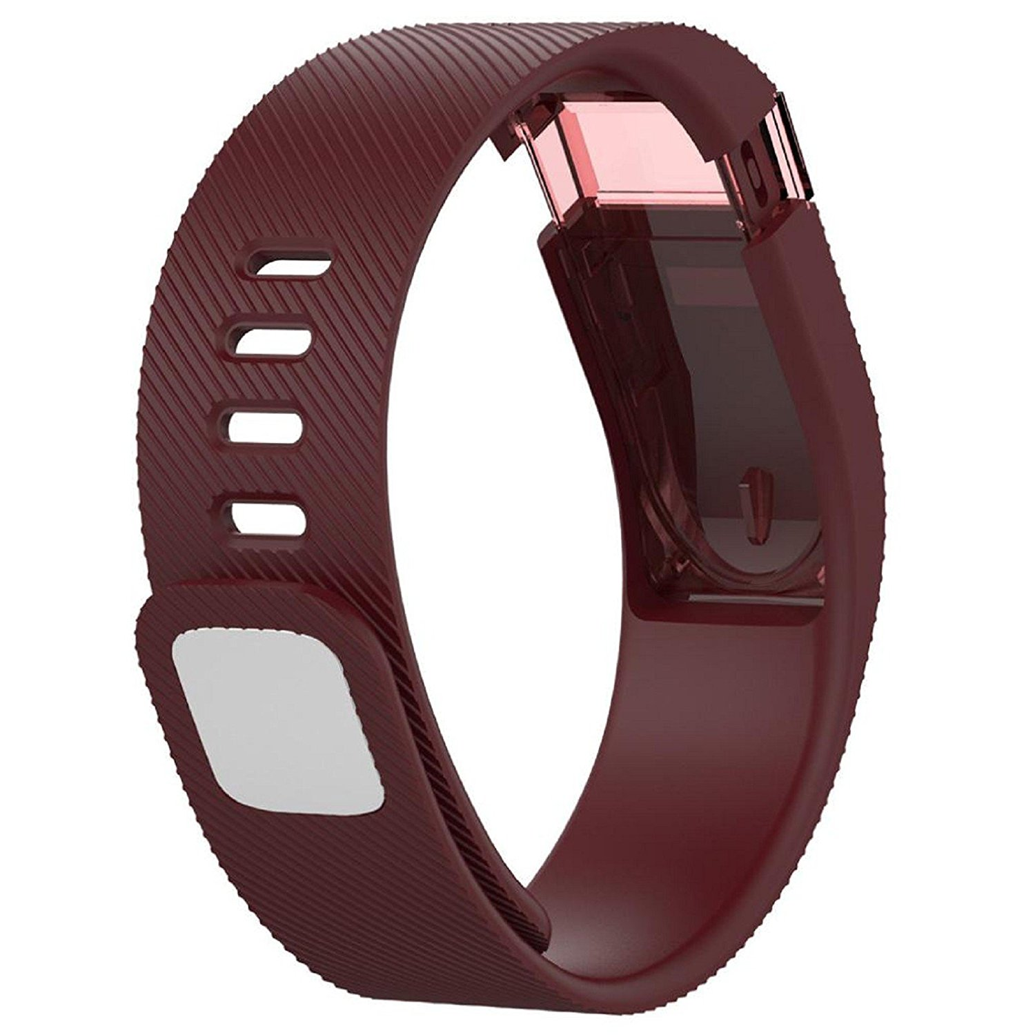 Owill Concise Soft Replacement Silicone Band Rubber Strap Wristband Bracelet For Fitbit Force (Red)