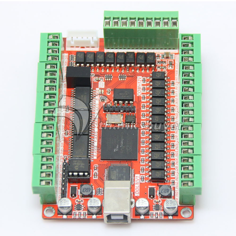 5 Axis 50KHZ Five Axis Stepper Motor Driver Breakout Board USB MACH3