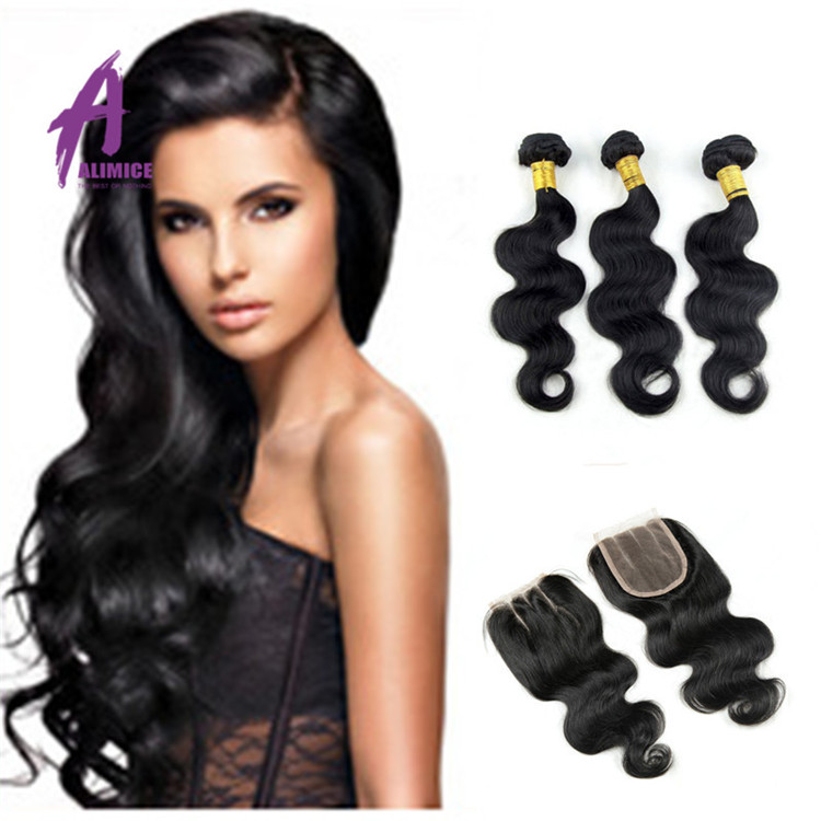 Factory Wholesale Grade 8A Body Wave 100% Unprocessed Brazilian Virgin Hair Extension, Natural black 1b;1#;1b;2#;4# and etc