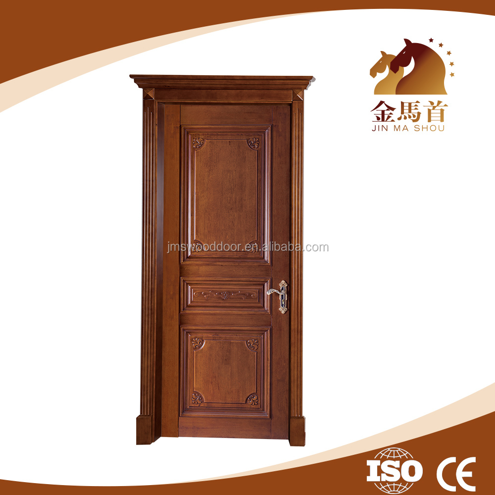 Alibaba China supplier Trade insurance manufacturer Solid oak wood entrance door with painting paint colors wood doors design