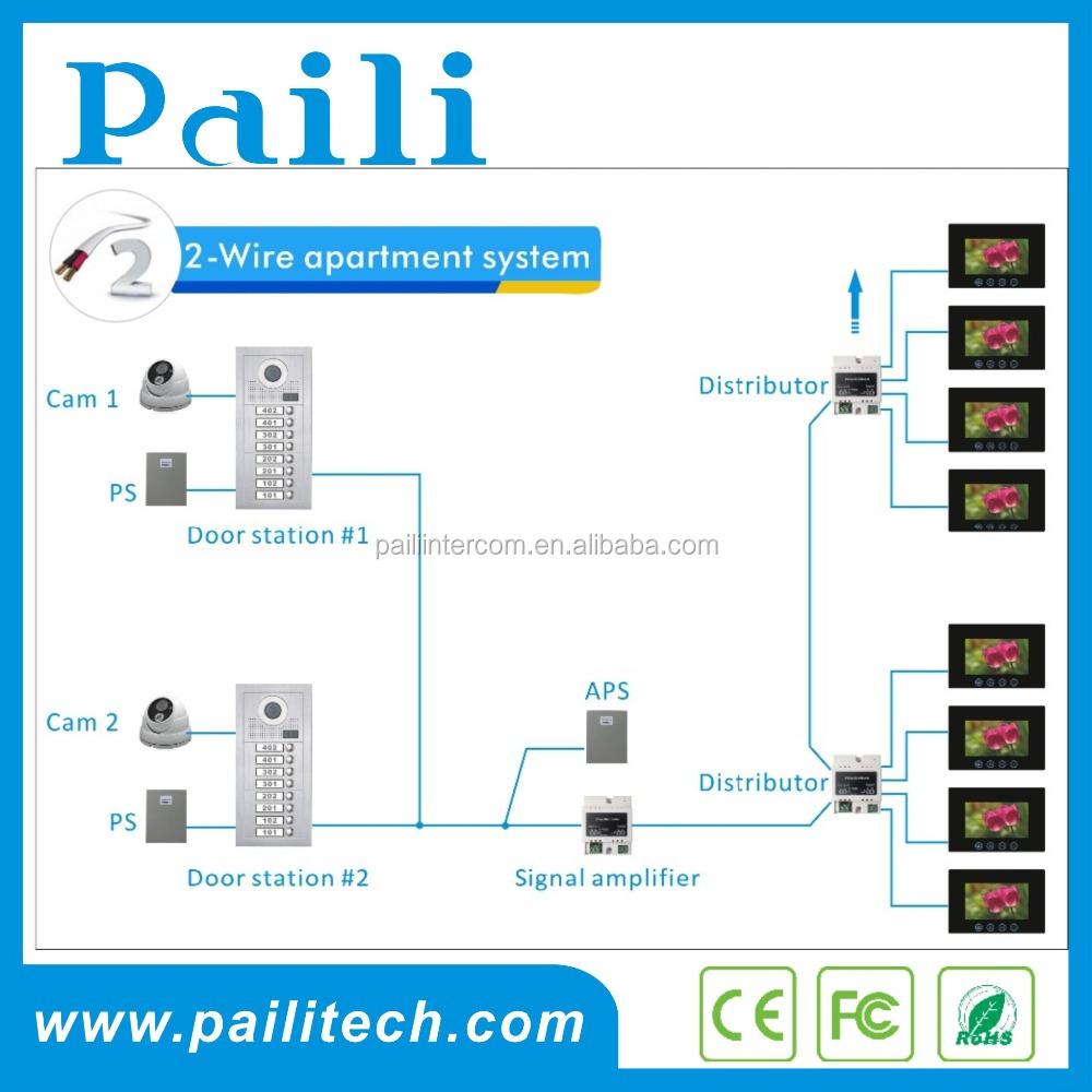 7 Video Door Phone Intercom System 2 Wire Apartment Entry Wiring Diagram Doorbell 8 Monitor Building Buy