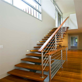 Frosted Glass Railing Stairs