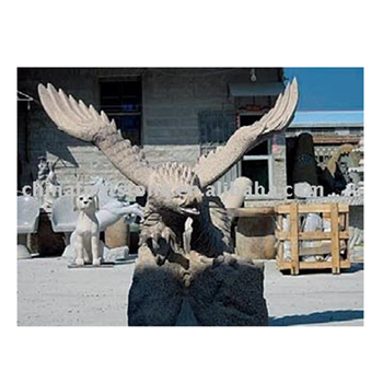 GAB249 Factory Outlets High Quality Ornament Garden Marble Eagle Sculpture