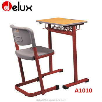 Not Adjustable Height Student Desk And Chair With Black