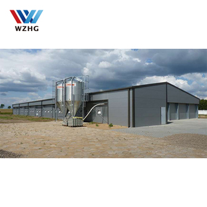 New type of prefab steel structure poultry farms chicken house