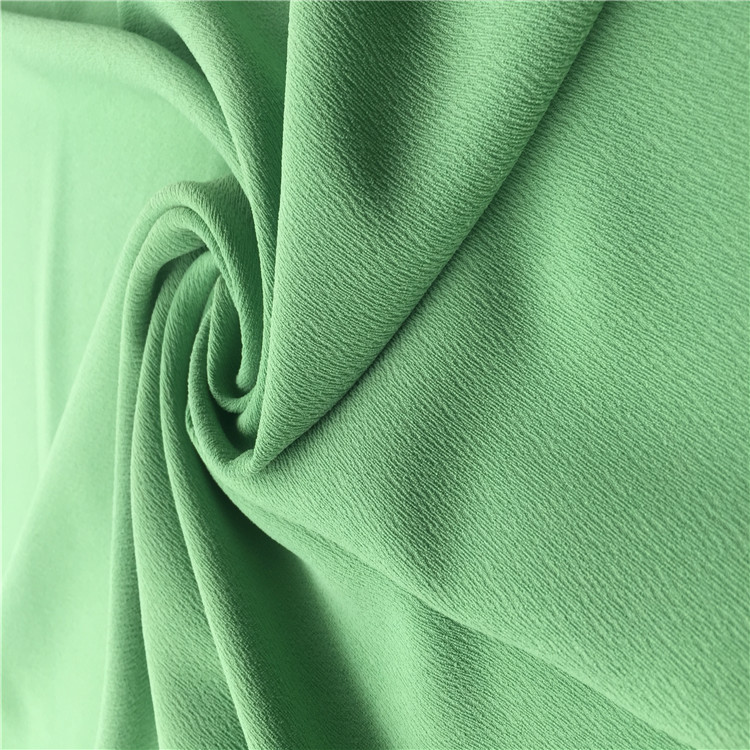 100%POLY heavy crepe fabric durable elastic fabric for luxury fashion women suits 2018 spring