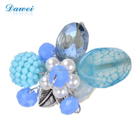 Low MOQ Promotional Fashion Mother's Day Gift Brooch With Pearl Gemstone Accessories