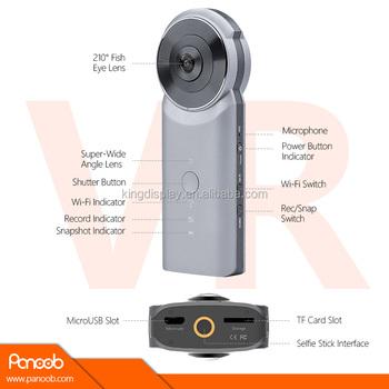 Gwsecu 4k Wifi 3d Vr Camera 360 Dual Lens Degree 720 Panoramic