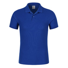2017 latest fashion top design your own blue polo t shirt