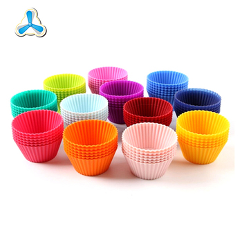 Food-grade round shaped non-stick baking tool muffin cup cakes silicone mould silicone baking cup