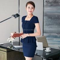 Elegant ladies cost dress suit women workwear uniforms office uniforms suit