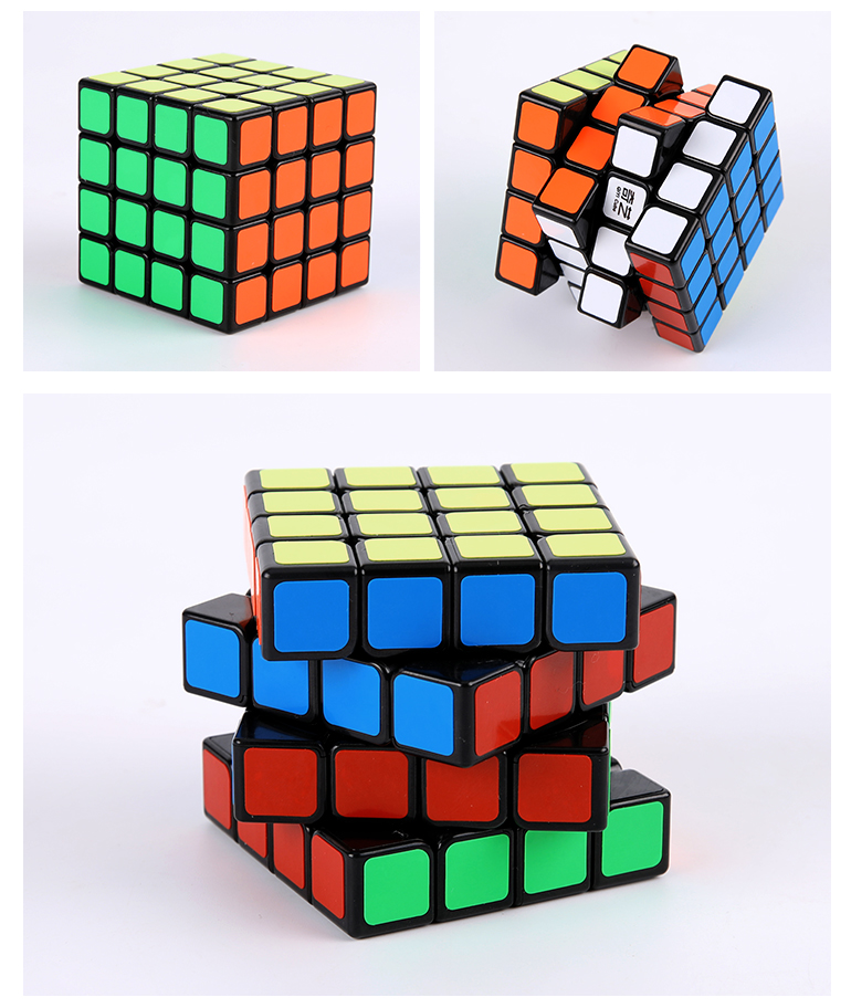 Anti-stick stability design qiyuan 62mm cube 4x4x4 with color base