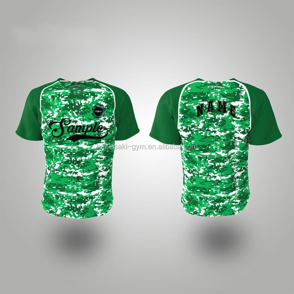 Custom cheap sublimation mesh fabric design your own camouflage baseball uniform jersey