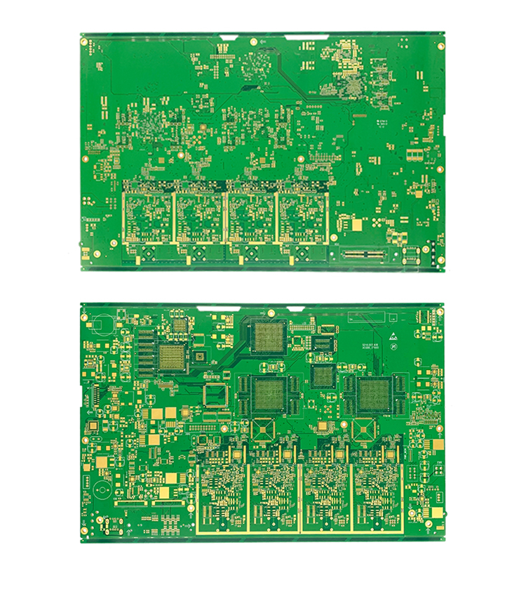 Good quality and price of green solder mask 6l multilayer pcb board Printed Circuit Board for 5g